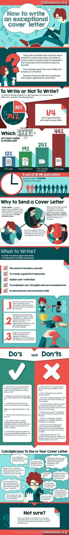 Career infographic & Advice How to Write an Exceptional Cover Letter . Image Description How to Write an Exceptional Cover Letter Cover Letter Tips, Cover Letter For Resume, Cover Letters, Job Resume, Resume Tips, Resume Examples, Sample Resume, Cv Tips, Affiliate Marketing