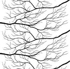 Kvisten fabric - black-white - Arvidssons Textil
