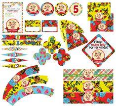 O Kit para Impressão inclui: - convite [10x15cm]; - convite em versão digital para envio por e-mail ou redes sociais; - toppers para cupcakes, doces, salgados, canudos [5cm] - pode ser usado como etiqueta adesiva ou tag; - toppers para cupcakes, doces, salgados, canudos [3cm] - pode ser usado como etiqueta ...