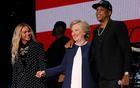 """Donald Trump harps on Jay Z's """"language"""" at pro-Hillary Clinton rally - CBS News"""