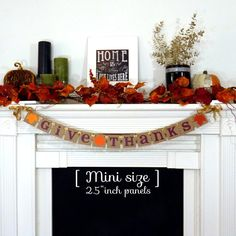 Thanksgiving Decorations Banner - Give Thanks Sign - Thanksgiving Decorations - Holiday Decorations - Giving Thanks - Turkey Dinner