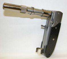Transforming false folding knife gun