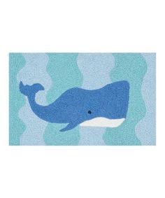 Look at this #zulilyfind! Ocean & Blue Whale Angelou Rug #zulilyfinds