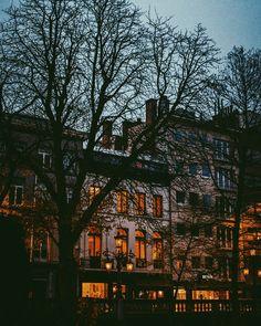"""herbloodredlips: """" 10 more days of December #Antwerp #Belgium #vsco #vscocam #landscape #nature #city #sunset #winter #explore #travel #december #lights #night #sky #skyline (at Botanic Garden) """""""