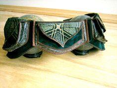 Psychedelic Green Festival Pocket Belt Utility by Sandalamoon, $178.00