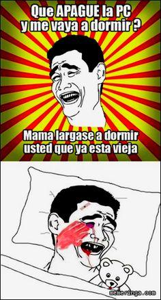 Que apague la PC – Memes en Español ... #Memes + #HumorGrafico + #Diversion
