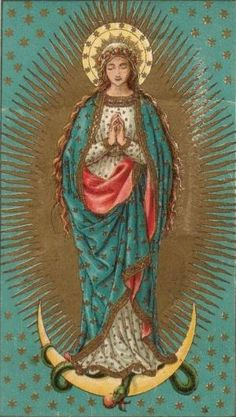 Our Lady Of Guadalupe. Blessed Mother Mary, Divine Mother, Blessed Virgin Mary, Virgin Mary Art, Religious Pictures, Religious Icons, Religious Art, Immaculée Conception, Queen Of Heaven