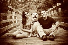 how adorable is this couple and their dog? Couple Photography, Animal Photography, Wedding Photography, Photography Ideas, Photos With Dog, Family Photos, Couple Pictures, Senior Pictures, Picture Poses