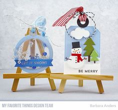 """146 Likes, 2 Comments - Barbara Smith Anders (@banders03123) on Instagram: """"Fun holiday tags is this month's challenge for Creative Construction with Blueprints. Details on my…"""""""