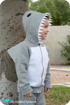 The Crafted Sparrow: DIY Shark Costume