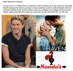 Niall. Hey I saw that movie yesterday! It was really good :)