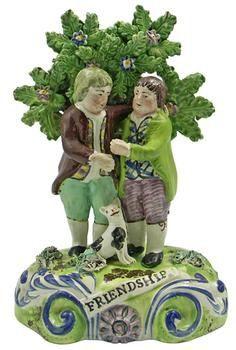 """Friendship"" Staffordshire figure, by John Walton, 1810-1835."