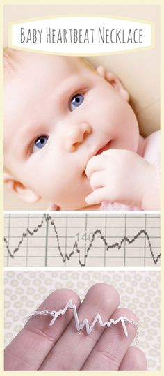 Turn your baby's first heartbeat scan into a really beautiful, meaningful necklace!