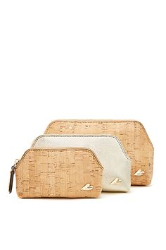 DVF Triplet Cork Bag Set in Natural/ Gold