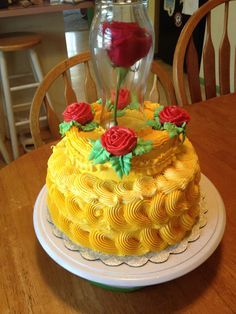 Image result for BEAUTY AND BEAST CAKE IMAGES WITH CHOCOLATE ICING