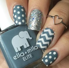 100 best of nail art 2016 ideas - Styles 7 Nail Designs 2015, Grey Nail Designs, Fingernail Designs, Beautiful Nail Designs, Cool Nail Designs, Kathy Nails, Cat Nail Art, Sparkly Nails, Gray Nails