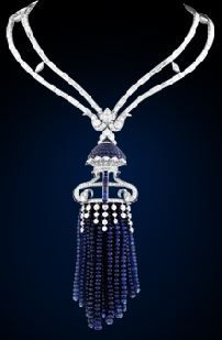 Van Cleef & Arpels: Medusa Necklace; from Les Voyages Extraordinaire Collection; sapphires & diamonds.