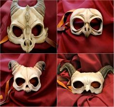 "It's probably a bit too early to start thinking about Halloween (or, you know, you could just wear one to work for ""casual freaky Friday"") but these handmade resin skull masks by Etsy shop aishavoya are pretty damned incredible. Each mask is hand painted, so each paint job slightly varies. Masks are lined in fabric and the straps are leather but can be switched with a synthetic leather upon request. The masks are hand-sculpted, supposedly lightweight, somewhat flexible and apparently c..."
