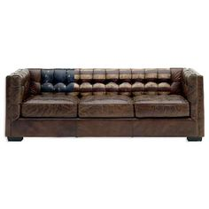 leather couches | Flag leather Sofa By Andrew Martin. He has used flag motifs like the ...