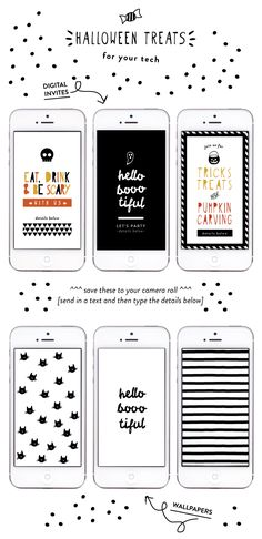 happy monday friends!to start the week off right, i have some cute (with a touch of spooky) halloween designsto share with you! 3 digital invites that make planning a halloween party or casual get together super easy + extra fun. just save the files and then attach to your email or text message. i also …