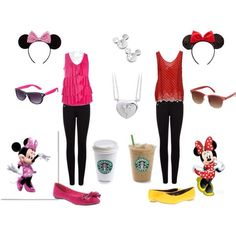 best friends outfit for disney.but im a little disapointed that they have starbucks there.like that actually made me a little mad.you dont always need starbucks.i think thats kinda sad if u do😒😒 Disneyland Outfits, Disney Bound Outfits, Disney Inspired Outfits, Themed Outfits, Disney Style, Looks Style, My Style, Summer Outfits, Cute Outfits