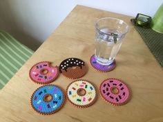 Hama bead Donut Coasters via Crafty Tats. Click on the image to see more!