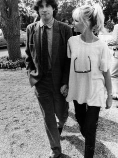 Young John Travolta and Olivia Newton John