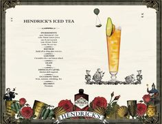 Hendrick's Iced Tea bei LONG time no DRINK @ lutz - die bar Honey Syrup, Iced Tea, Gin, Ice T, Sweet Tea, Jeans, Jin