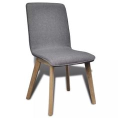 vidaXL Solid Oak Wood Dining Chair Light Grey Fabric Kitchen Furniture - 8718475882411 For Sale, Buy from Dining Chairs Sets of 4 collection at MyDeal for best discounts. Fabric Dining Chairs, Chair Fabric, Dining Chair Set, Dining Room, Dining Tables, Grey Kitchen Furniture, Light Grey Kitchens, Love Your Home, 5 W