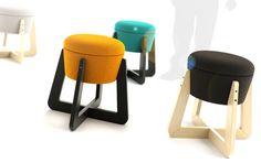 TAM-TAM stool - project 2012 by Radek Nowakowski, via Behance