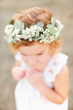 Wax flower crown by Victory Blooms