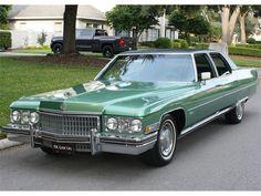 1973 Cadillac Fleetwood Brougham in green