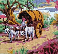 The Bullock Cart Travelling 🐂 (Multi Bullock Cart, Mallow Flower, Types Of Hands, Thread Painting, Flamboyant, My Memory, In My Feelings, Hand Stitching, The Help