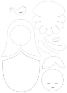 nesting doll felt pattern. In another language - I'm going to see if I can figure it out