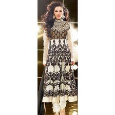 KVD10S21039 - Off White Faux Georgette Anarkali Suit with Dupatta
