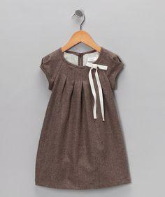 ferd Brown Pleated Shift Dress - Infant, Toddler & Girls
