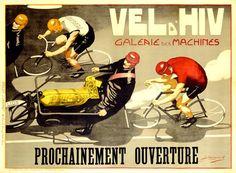 Vel d'Hiv Bicycle Ad by J. Cancaret Fine Art Print