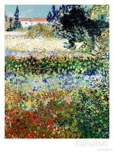 Garden in Bloom, Arles, c.1888 Giclee Print by Vincent van Gogh at AllPosters.com