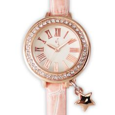 2198b1f9bc9 Constance Rhinestone Pink Strap Watch with Star Charm