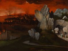 Landscape with the Destruction of Sodom and Gomorrah - Joachim Patinir, circa 1520 | Collection Boijmans