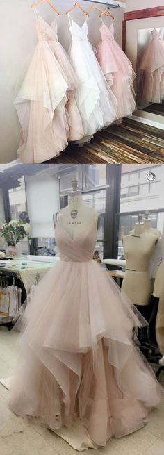 Spaghetti Straps Long Tulle Prom Dresses Princess Pink Prom Gown, Ball Gown White Formal Gown from meetdresse-***when you order please tell me your phone number for shipping needs .(this is very important )1, if you need customize the dress color and size please note me your color and size as below:*color ______________*Bust__________*Waist __________*Hips __________*Your Height ( From your hea