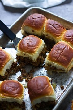 Melt-in-Your-Mouth Chopped Cheeseburger Sliders - better than White Castle!