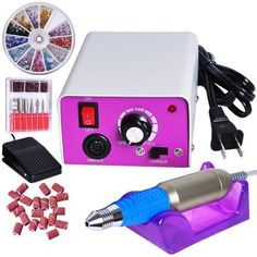 SolSalon 30000RPM Professional Electric Nail File Drill Manicure Tool Pedicure Machine Set kit ** To view further for this item, visit the image link. Note:It is Affiliate Link to Amazon.