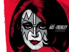 Ace Frehley Concert Poster by Zach Hobbs (Scratch/Dent)
