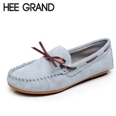 HEE GRAND Candy Colors Loafers Casual Leather Shoes Woman Bowtie Slip On Flats Spring Soft Moccasin Platform Women Shoes XWD4284 #clothing,#shoes,#jewelry,#women,#men,#hats,#watches,#belts,#fashion,#style