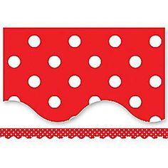 "Checkout the ""Red Mini Polka Dots Scalloped Border Trim"" product Mickey Mouse Classroom, Disney Classroom, Classroom Themes, Bulletin Board Borders, Bulletin Boards, Middle School Decor, Disney Themed Rooms, Preschool Bulletin, Teacher Created Resources"