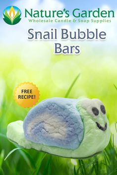 Free Snail Bubble Bars Recipe by Natures Garden.