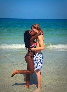WhiteboysDatingBlackgirls - brianajamya: Love in the air & sand everywhere...