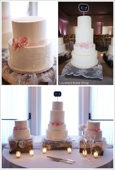 Silk & Tulle Cake by Layered Bake Shop. Love everything minus the topper.