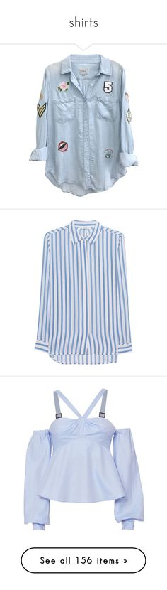 """""""shirts"""" by vheart-official ❤ liked on Polyvore featuring tops, blouses, jackets, button down blouse, denim button down top, relaxed fit tops, blue denim blouse, button up top, shirts and majice"""
